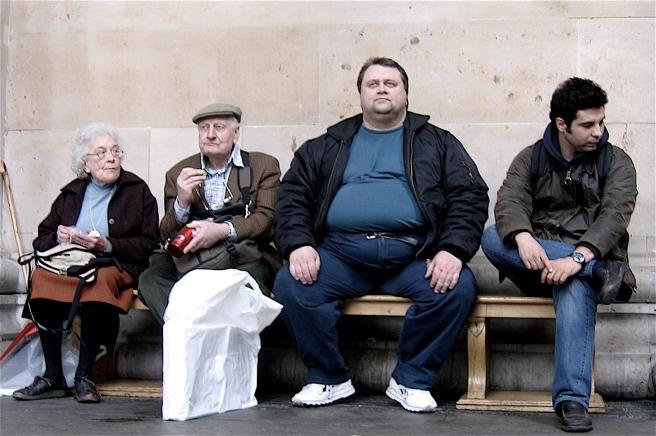 2006-03-25 - United Kingdom - England - London - British Museum - Four People - Old Couple - Fat Man